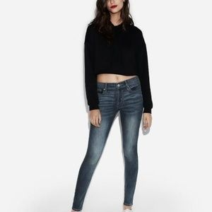Express Mid Rise Medium Wash Jean Legging 8L